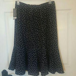 NEW reversible navy and white skirt